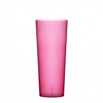 FLUORESCENT TUBE RED CUP  6.7OZ POLYPROPYLENE
